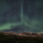 Auroras over Mt. Esja near Reykjavik